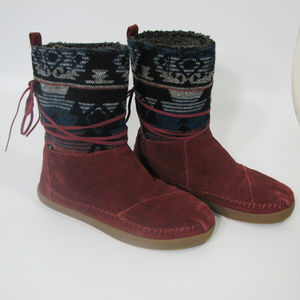 TOMS Nepal Aztec Tribal Suede Boots